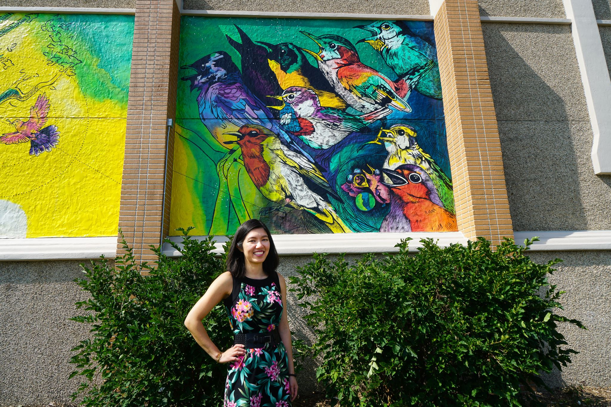Giant Mural at Lutheran Church with Jenie Gao