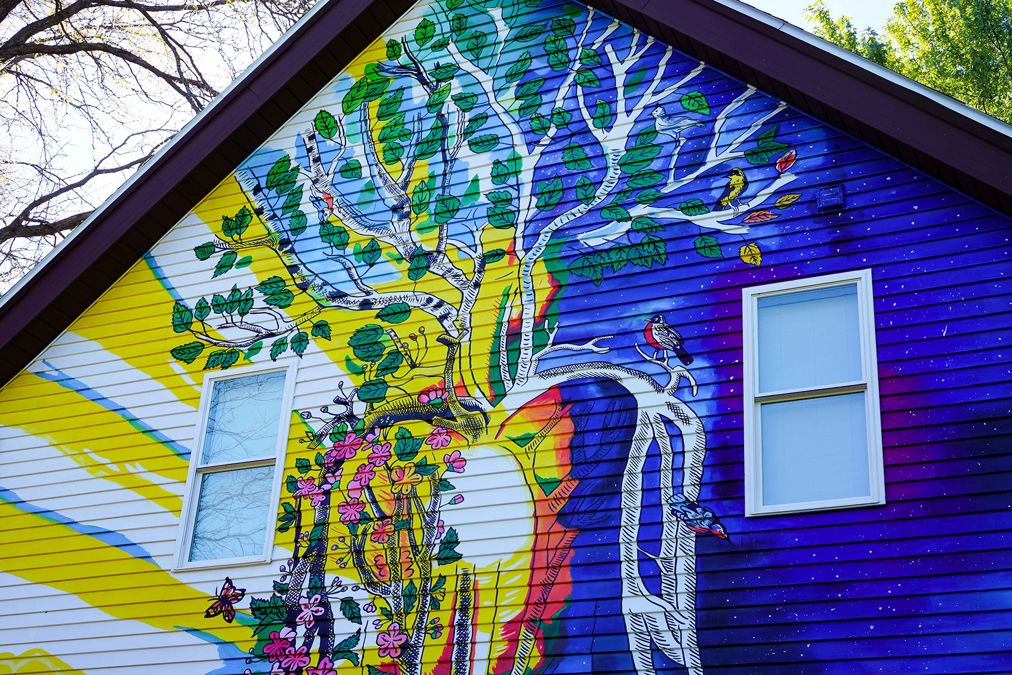 Rest and Rejuvenation Exterior House Mural